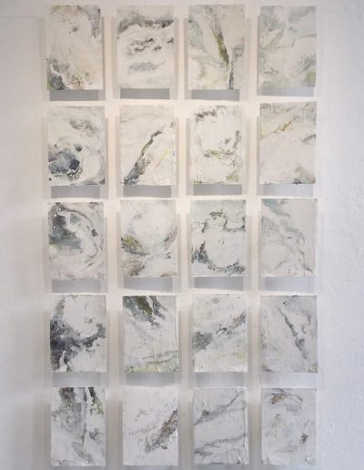 Sea Drawings. 182x101cm. Plaster and pigment.
