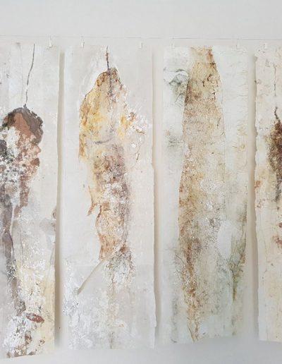 Jude Nixon, Shetland Kelp. Rice paper and pigment.