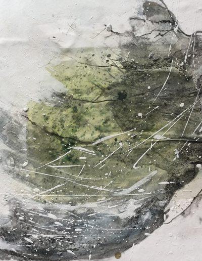 Quahog Panel. 30x20cm. Plaster and pigment.