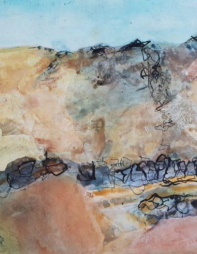 Atacama Desert. 60x70cm. Pigment and size.