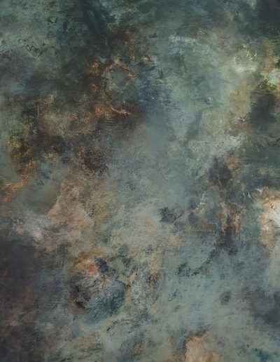 Jude Nixon, Night sky 11. 80x80 cm. Pigment, size and gesso.
